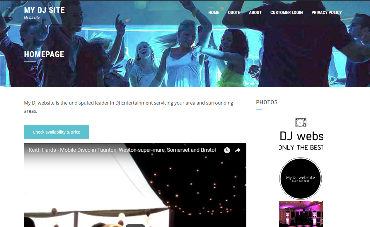 Example: Free mobile DJ booking events manager